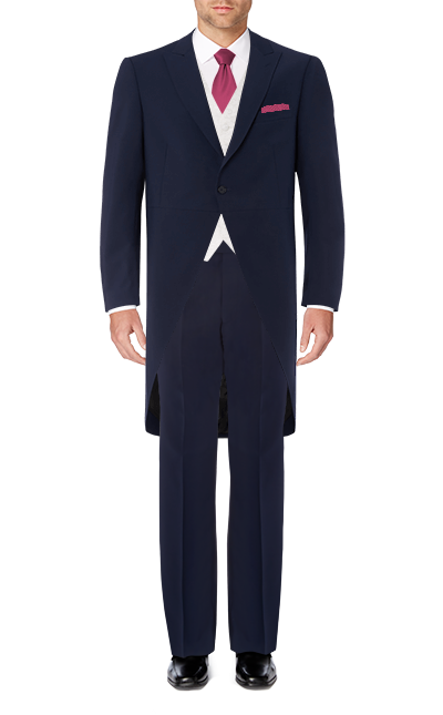 Recommended Suit - Blue Slim Fit Tailcoat