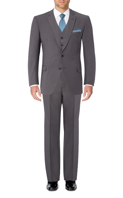 Recommended Suit - Grey Slim Fit Short