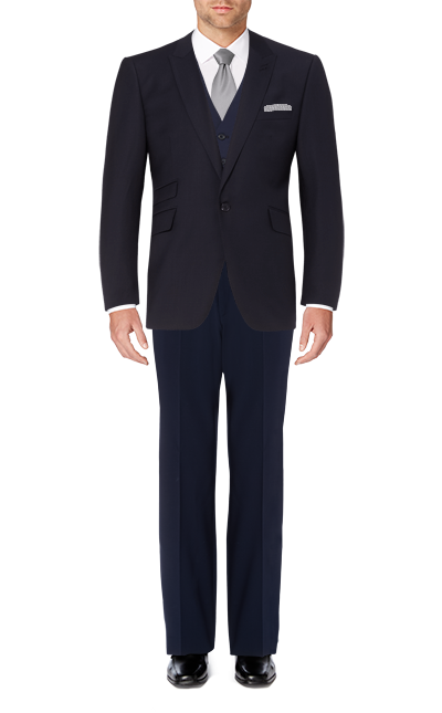 Recommended Suit - Navy Tailored Short